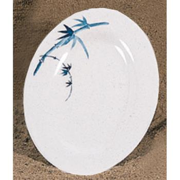 "THG2010BB - Thunder Group - 2010BB - 9 7/8"" x 7 1/4"" Blue Bamboo Oval Platter Product Image"