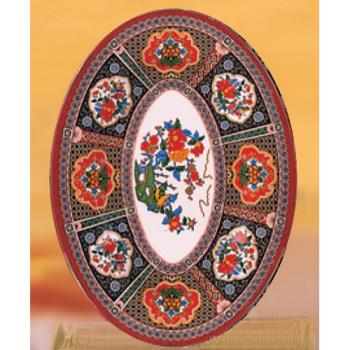 "THG2010TP - Thunder Group - 2010TP - 9 7/8"" x 7 1/4"" Peacock Oval Platter Product Image"