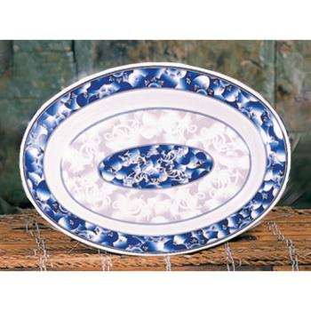 "THG2109DL - Thunder Group - 2109DL - 9"" x 6 3/4"" Blue Dragon Oval Platter Product Image"