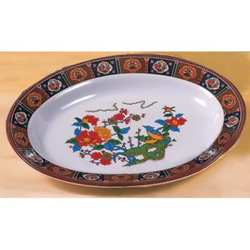 "THG2113TP - Thunder Group - 2113TP - 13"" x 9 3/4"" Peacock Oval Platter Product Image"