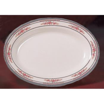 "THG2114AR - Thunder Group - 2114AR - 14 1/8"" x 10 5/8"" Rose Deep Oval Platter Product Image"