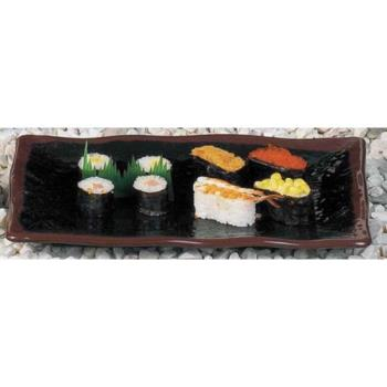 "THG2412TM - Thunder Group - 2412TM - 11"" Tenmoku Wave Sashimi Plate Product Image"