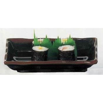 "THG2414TM - Thunder Group - 2414TM - 13"" Tenmoku Wave Sashimi Plate Product Image"