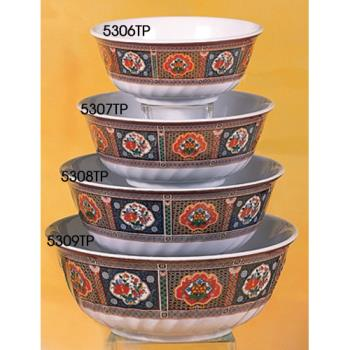 THG5309TP - Thunder Group - 5309TP - 66 oz. Peacock Swirl Bowl Product Image