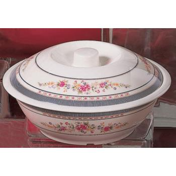 THG8010AR - Thunder Group - 8010AR - 63 oz. Rose Serving Bowl w/ Lid Product Image