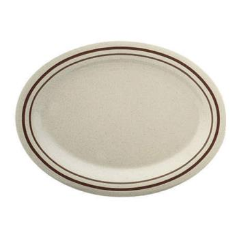 "THGAD214AA - Thunder Group - AD214AA - 14"" x 10"" Arcadia Oval Platter Product Image"
