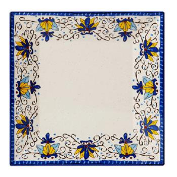 GETML90SL - GET Enterprises - ML-90-SL - Santa Lucia 12 in Square Plate Product Image