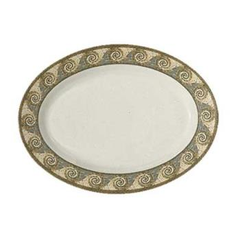 GETOP618MO - GET Enterprises - OP-618-MO - Mosaic 18 in Oval Platter Product Image