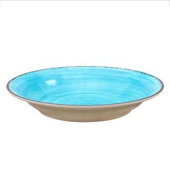 CFS5400315 - Carlisle - 5400315 - 28 1/2 oz Aqua Mingle Rimmed Soup Bowl Product Image