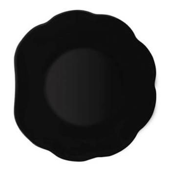 GET139BK - GET Enterprises - 139-BK - Black Elegance 8 in Scallop Plate Product Image