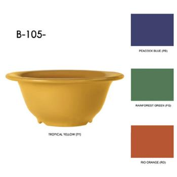 GETB105TY - GET Enterprises - B-105-TY - Mardi Gras Tropical Yellow 10 oz Rim Bowl Product Image
