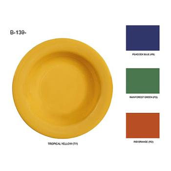 GETB139PB - GET Enterprises - B-139-PB - Mardi Gras Peacock Blue 13 oz Pasta Bowl Product Image