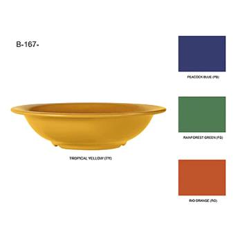 GETB167PB - GET Enterprises - B-167-PB - Mardi Gras Peacock Blue 16 oz Salad Bowl Product Image