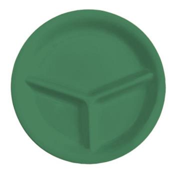 GETCP10FG - GET Enterprises - CP-10-FG - Mardi Gras Forest Green 10 1/4 in 3-Comp Plate Product Image
