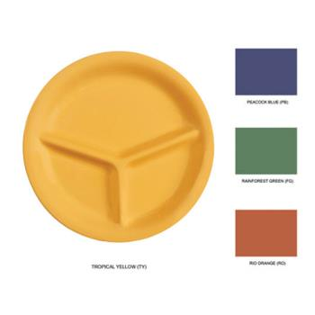 GETCP10MIX - GET Enterprises - CP-10-MIX - 10 1/4 in Mardi Gras Mix 3 Compartment Plate Product Image