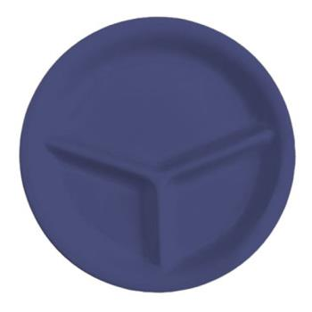 GETCP10PB - GET Enterprises - CP-10-PB - Mardi Gras Peacock Blue 10 1/4 in 3-Comp Plate Product Image