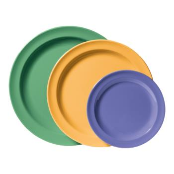 GETDP909MIX - GET Enterprises - DP-909-MIX - Mardi Gras Kid Mix 9 in Dinner Plate Product Image