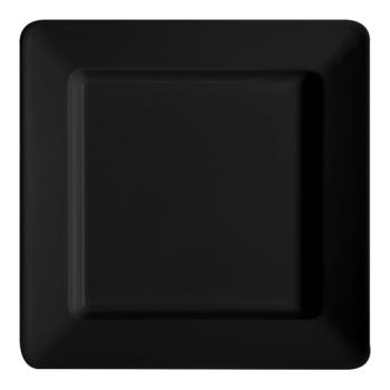 GETML12BK - GET Enterprises - ML-12-BK - Milano Black 12 in Square Plate Product Image