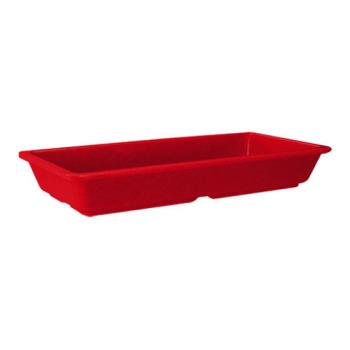 GETML121RSP - GET Enterprises - ML-121-RSP - Milano Red 16 oz Entrée Dish Product Image