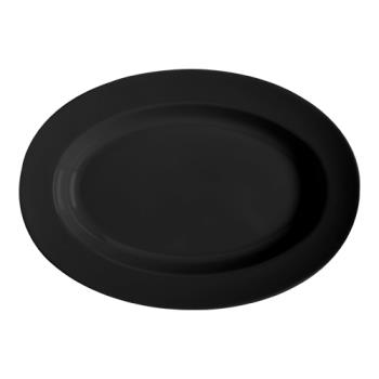 GETML15BK - GET Enterprises - ML-15-BK - Milano Black 18 in Oval Platter Product Image