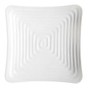 "GETML61W - GET Enterprises - ML-61-W - Milano White 7 1/4"" Square Plate Product Image"