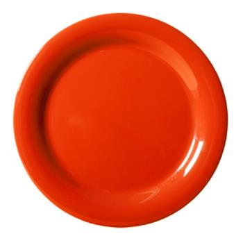 GETNP7RO - GET Enterprises - NP-7-RO - Mardi Gras Rio Orange 7 1/4 in Narrow Rim Plate Product Image