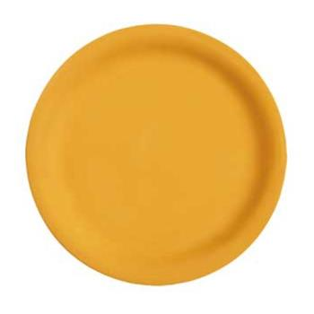 "GETNP7TY - GET Enterprises - NP-7-TY - Mardi Gras Tropical Yellow 7 1/4"" Narrow Rim Plate Product Image"