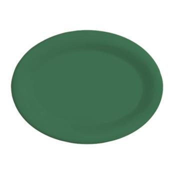 GETOP120FG - GET Enterprises - OP-120-FG - Mardi Gras Forest Green 12 in x 9 in Oval Platter Product Image