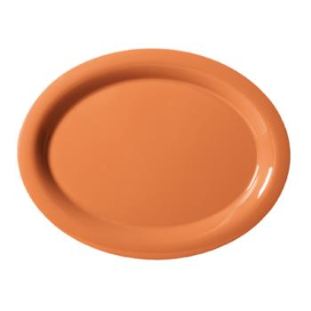 GETOP120PK - GET Enterprises - OP-120-PK - Harvest Pumpkin 12 in x 9 in Oval Platter Product Image
