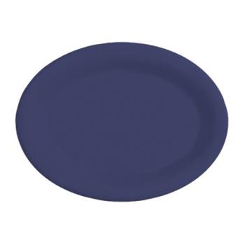 GETOP145PB - GET Enterprises - OP-145-PB - Mardi Gras Peacock Blue 14 3/4 in Oval Platter Product Image