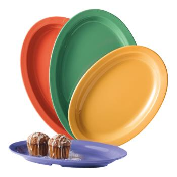 GETOP612MIX - GET Enterprises - OP-612-MIX - Mardi Gras Kid Mix 11 3/4 in Oval Platter Product Image