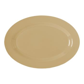 GETOP614T - GET Enterprises - OP-614-T - Supermel I Tan 13 1/4 in Oval Platter Product Image