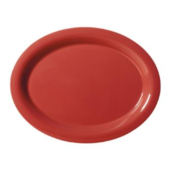 GETOP950CR - GET Enterprises - OP-950-CR - Harvest Cranberry 9 3/4 in Oval Platter Product Image