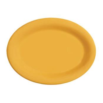 GETOP950TY - GET Enterprises - OP-950-TY - Mardi Gras Tropical Yellow 9 3/4 in Oval Platter Product Image