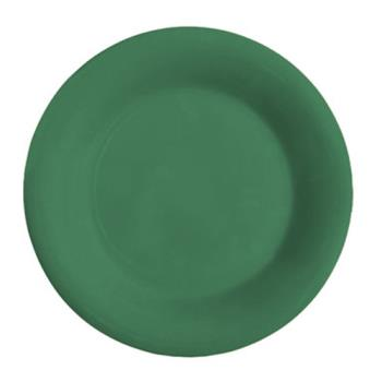 GETWP12FG - GET Enterprises - WP-12-FG - Mardi Gras Forest Green 12 in Wide Rim Plate Product Image