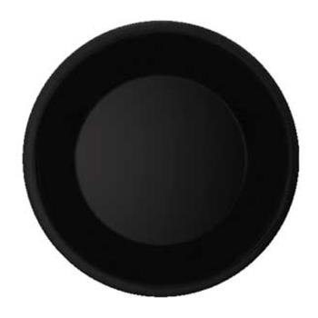 GETWP6BK - GET Enterprises - WP-6-BK - Black Elegance 6 1/2 in Wide Rim Plate Product Image