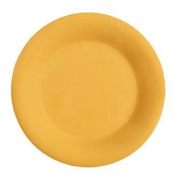 GETWP7TY - GET Enterprises - WP-7-TY - Mardi Gras Tropical Yellow 7 1/2 in Wide Rim Plate Product Image
