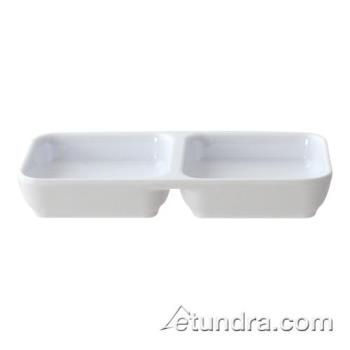 THG19002WT - Thunder Group - 19002WT - Classic White Series 4 oz Twin Sauce Dish Product Image