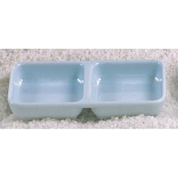 "THG1902 - Thunder Group - 1902 - 6"" x 3"" Blue Jade Square Twin Sauce Dish Product Image"