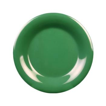 "THGCR005GR - Thunder Group - CR005GR - 5 1/2"" Green Wide Rim Round Plate Product Image"