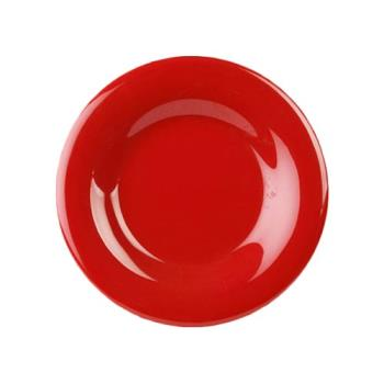 "THGCR005PR - Thunder Group - CR005PR - 5 1/2"" Pure Red Wide Rim Round Plate Product Image"