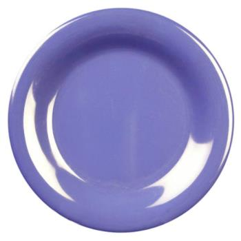 "THGCR006BU - Thunder Group - CR006BU - 6 1/2"" Purple Wide Rim Round Plate Product Image"