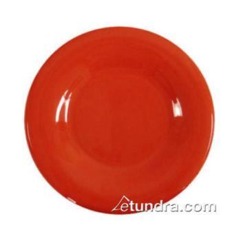 "THGCR009PR - Thunder Group - CR009PR - 9"" Pure Red Wide Rim Round Plate Product Image"