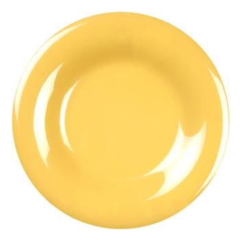 "THGCR009YW - Thunder Group - CR009YW - 9"" Yellow Wide Rim Round Plate Product Image"
