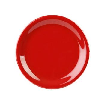 "THGCR010PR - Thunder Group - CR010PR - 10 1/2"" Pure Red Wide Rim Round Plate Product Image"