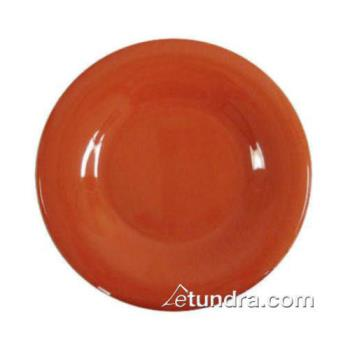 "THGCR012RD - Thunder Group - CR012RD - 12"" Red-Orange Wide Rim Round Plate Product Image"