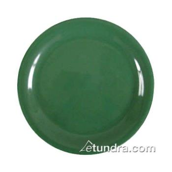 "THGCR107GR - Thunder Group - CR107GR - 7 1/4"" Green Narrow Rim Round Plate Product Image"