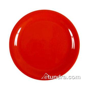 "THGCR107PR - Thunder Group - CR107PR - 7 1/4"" Pure Red Narrow Rim Round Plate Product Image"