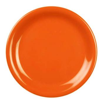 "THGCR107RD - Thunder Group - CR107RD - 7 1/4"" Burnt Orange Narrow Rim Round Plate Product Image"