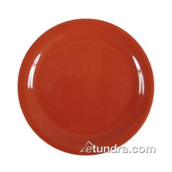 "THGCR109RD - Thunder Group - CR109RD - 9"" Red-Orange Narrow Rim Round Plate Product Image"
